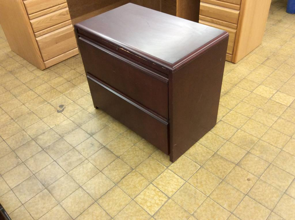 Picture of: 19x34x29 Cherry Wood 2 Drawer Lateral File Cabinet 5 23 19 Nd Surplus