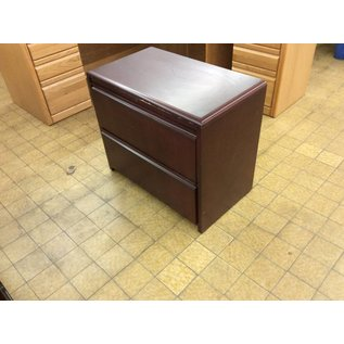 19x34x29 Cherry wood 2 drawer lateral file cabinet (5/23/19)