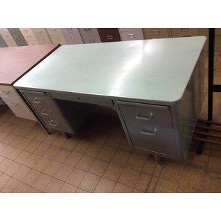 30x60x29 double pedestal  green steelcase desk (1/2/19)