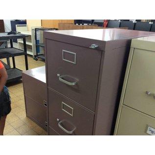 Mauve metal 4 drawer Vertical file cabinet (3/13/19)