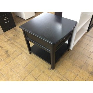 27x24x25 Black one drawer end table