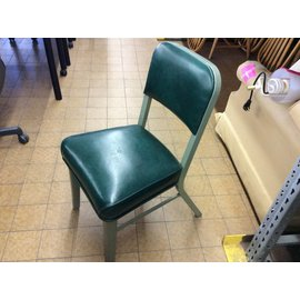 Steelcase green padded side Chair