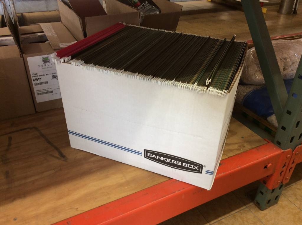 Box of Hanging File Folders letter size(6/26/19)