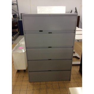 18x42x64 Grey 5 drawer lateral file 11/28/18