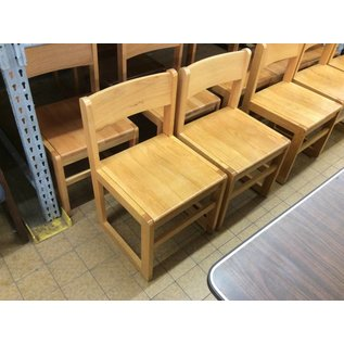 Lt Oak Wood frame Student desk chair (8/20/2020)