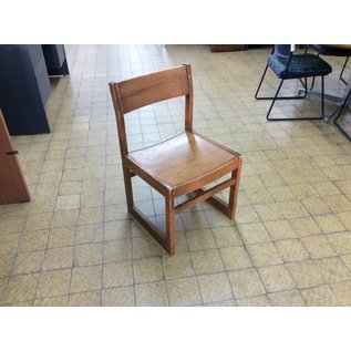Wood frame student desk chair (10/02/19)
