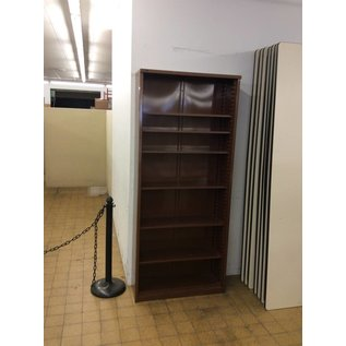 "12x36x84"" Brown metal bookcase (2/13/2020)"