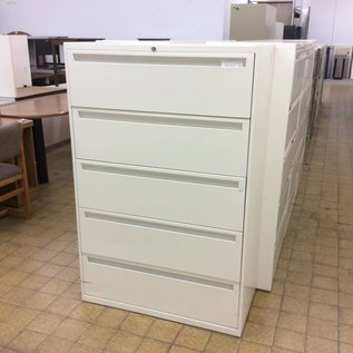 18x36x55 1/2 White 5 drawer Lateral File cabinet (1/21/2020)
