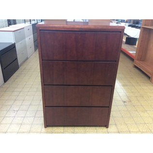 24x36x54 Cherry 4 drawer lateral file cabinet  12/20/18
