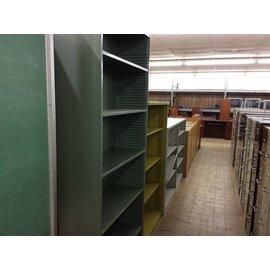 "12 1/2x36x84"" Green metal  bookcase (2/6/19)"