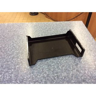 Black plastic paper tray various styles 10/25/18