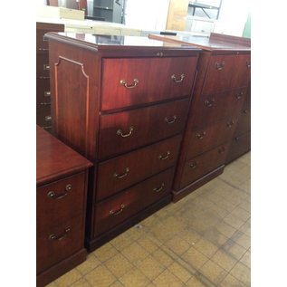 """20x36x54"""" Cherry Wood 4 Drawer Lateral File 12/20/18"""