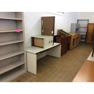 30x70x28 White wood Desk w/ Left Return (8/22/18)