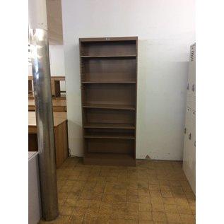 "12 x36x78"" Brown metal  bookcase (11/18/20)"