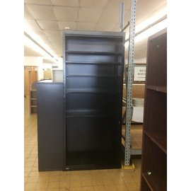 "12x36x84"" Black Metal Bookcase (10/06/20)"