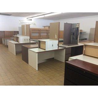 "30x60x28"" White wood desk w/ Right Return (8/22/18)"
