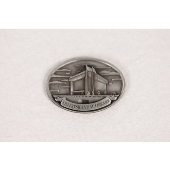 All the way with LBJ LBJ LIBRARY OVAL METAL MAGNET