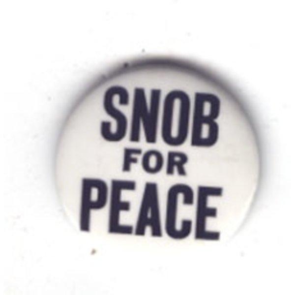 SNOB FOR PEACE - 70's Anti Vietnam War original