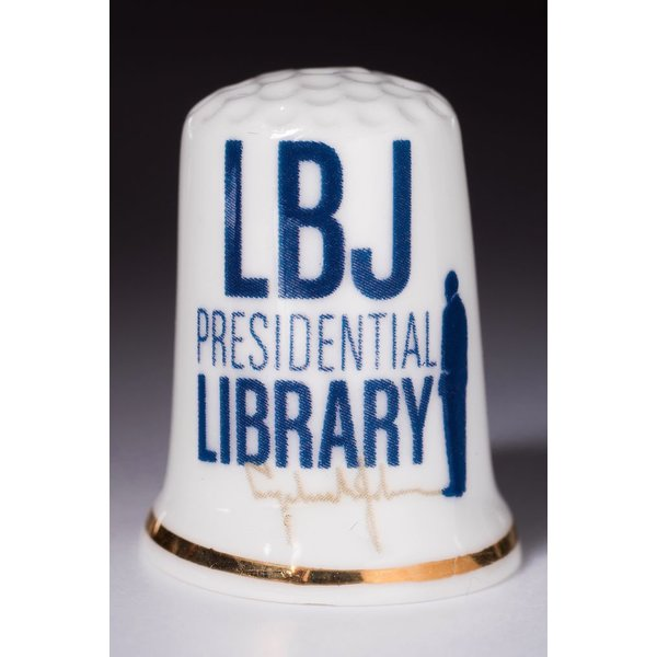 All the way with LBJ LBJ PRESIDENTIAL LIBRARY THIMBLE