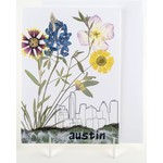 """Texas Traditions """"AUSTIN"""" SKYLINE with WILDFLOWERS CARD"""