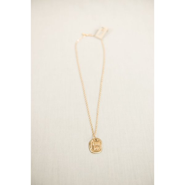 CAN DO CHARM AND CHAIN NECKLACE