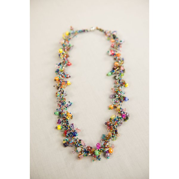 """COLORFUL 30"""" GUATEMALAN  NECKLACE"""
