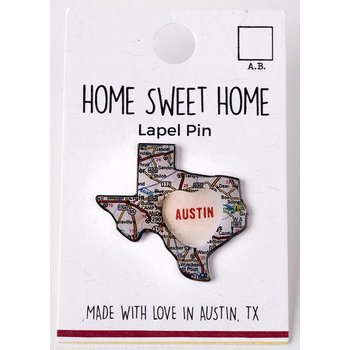 Texas Traditions sale-Candy Map Austin Lapel Pin