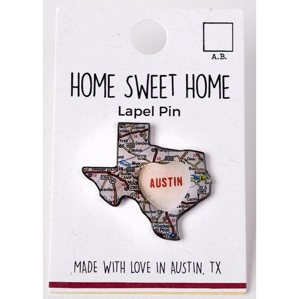 Texas Traditions Candy Map Austin Lapel Pin