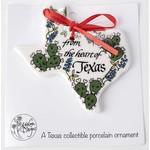 Austin & Texas Heart Of Texas Shaped Ornament