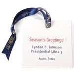 LBJ Library Painted Christmas ornament 2018