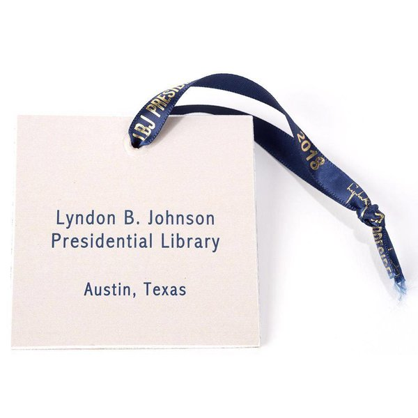 LBJ Painted LIbrary Ornament