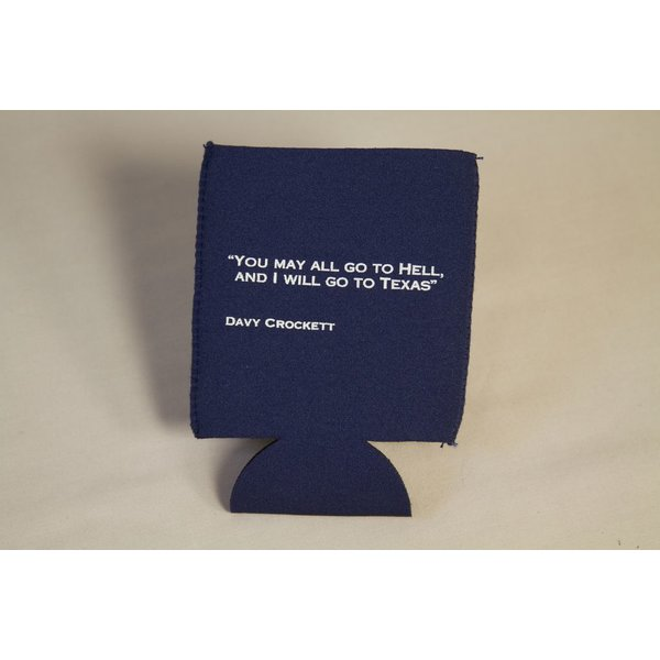 Austin & Texas Davy Crocket Quote Can Cooler