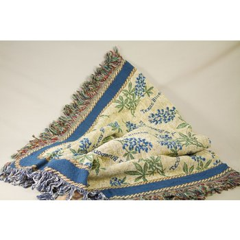 Austin & Texas Bluebonnet Throw Blanket