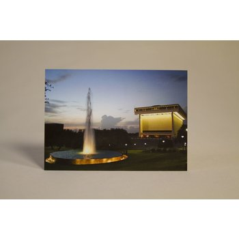 All the Way with LBJ LBJ Presidential Library at  Night Postcard