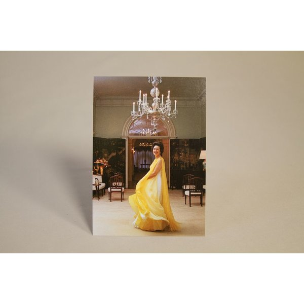 Lady Bird LADY BIRD INAUGURAL YELLOW DRESS POSTCARD