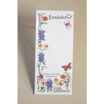 Austin & Texas Wildflowers of Texas Memo Pad