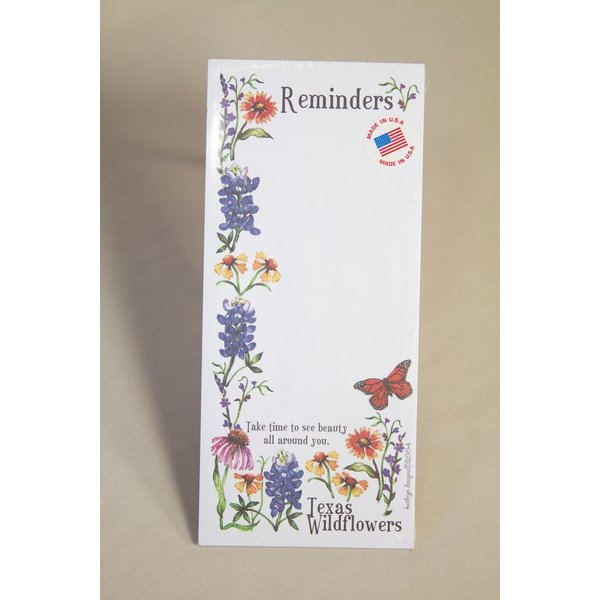 Texas Traditions WILDFLOWERS OF TEXAS MEMO PAD