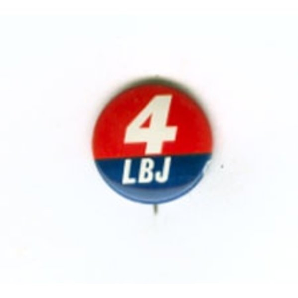 4 LBJ Original Button
