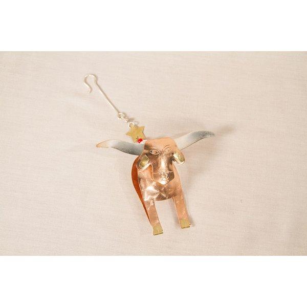 Holiday Longhorn Fair Trade Ornament