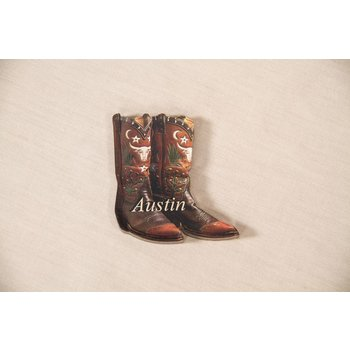 "Texas Traditions BOOT ""AUSTIN"" MAGNET"