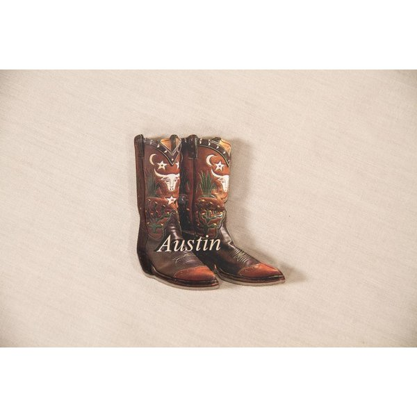 """Texas Traditions BOOT """"AUSTIN"""" MAGNET"""