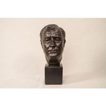 "Americana Franklin Roosevelt 9"" Bronze Bust"