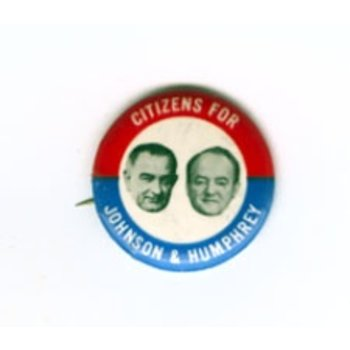 All the Way with LBJ Citizens for Johnson & Humphrey Campaign Button