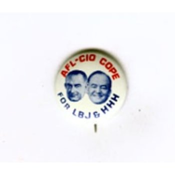 AFL CIO for LBJ HHH