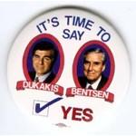 DUKAKIS BENTSEN TIME TO SAY YES