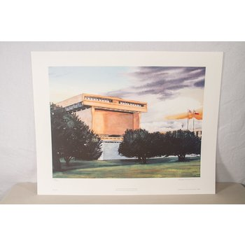 All the Way with LBJ Wiman Watercolor Print - Signed & Numbered