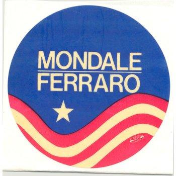 MONDALE FERRARO STICKER