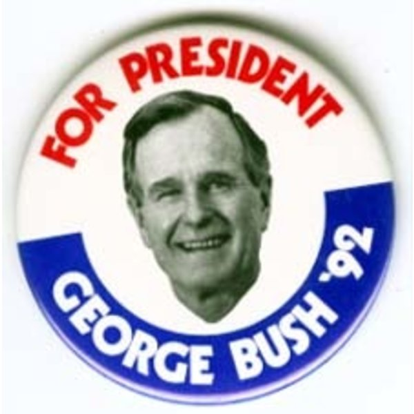 GHW BUSH FOR PRESIDENT '92 LARGE