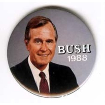 GHW Bush on Grey Large
