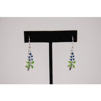 Texas Traditions BLUEBONNET EARRINGS ENAMEL